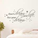 Wandtattoo Spruch - don´t dream your life