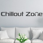 Wandtattoo Spruch - Chillout Zone