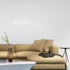 Wandtattoo Zitat - Die Kunst ist eine Tochter der Freiheit