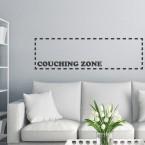 Wandtattoo Spruch - Couching Zone