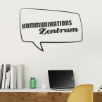 Wandtattoo Spruch - Kommunikationszentrum