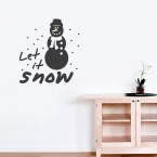 Wandtattoo Spruch - Let it snow