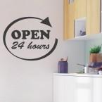 Wandtattoo Spruch - Open 24 hours