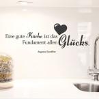 Wandtattoo Zitat - Eine gute Küche ...