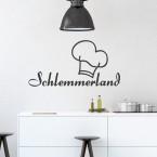Wandtattoo Spruch - Schlemmerland