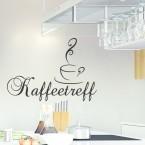 Wandtattoo Spruch - Kaffeetreff
