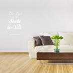 Wandtattoo Spruch - Die Zeit ist die Seele der Welt