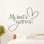 Wandtattoo Spruch - my heart is yours