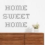 wandtattoo spruch home sweet home gestickt. Black Bedroom Furniture Sets. Home Design Ideas