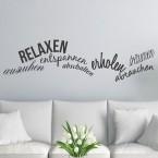 Wandtattoo Spruch - relaxen entspannen träumen