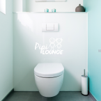 Wandtattoo WC Aufkleber - Pipi Lounge