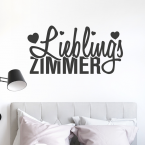 Wandtattoo Spruch - Lieblingszimmer