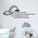 Wandtattoo Spruch - Die Arbeit läuft dir nicht davon ...