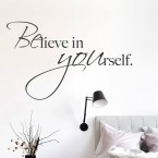 Wandtattoo Spruch - Believe in yourself