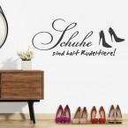 Wandtattoo Spruch - Schuhe sind halt Rudeltiere