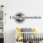 Wandtattoo Spruch - Unser Sonnenschein
