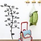 Wandtattoo Maßband - Eulenbaum
