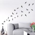 Wandtattoo - Vogelschwarm