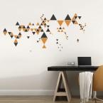 Wandtattoo Set - Dreiecke