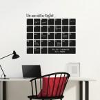 Tafelfolie - Monatsplaner