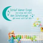 Wandtattoo Spruch - Schlaf kleiner Engel