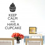 Wandtattoo Spruch Keep calm and have a cupcake