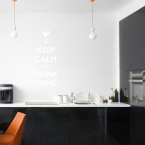 Wandtattoo Spruch - Keep calm and drink wine