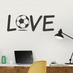 Wandtattoo Love Fussball