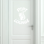 Wandtattoo WC Stinktier – Pipi-Lounge