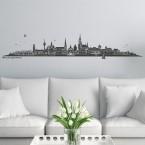 Wandtattoo Skyline Mönchengladbach ohne Fluss