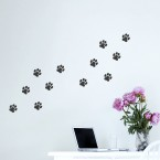Wandtattoo A4-Set Hundepfoten