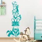Wandtattoo Tierturm Waldtiere Kinderzimmer