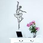 Wandtattoo Origami Ballerina