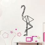 Wandtattoo Origami Flamingo