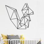 Wandtattoo Origami Eichhörnchen