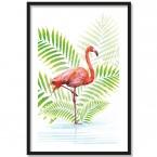 Poster Flamingo im Wasser