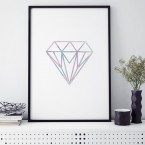poster diamant watercolour