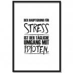 Poster Hauptgrund für Stress, mit Rahmen