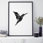 kolibri origami poster