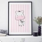 zebra rosa poster kinderzimmer