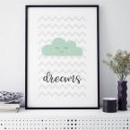 dreams wolke mint poster