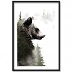 Poster Forest Bear, Rahmen