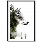 Poster Forest Wolf, Rahmen