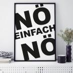 Poster Nö einfach Nö