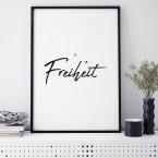 Poster Freiheit, mit Rahmen