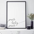 Poster Smile baby smile, mit Rahmen