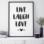 Poster Live Laugh Love