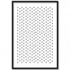 Poster Dots mit verstecktem Herz, mit Rahmen