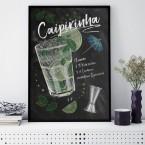 Cocktail Caipirinha Poster