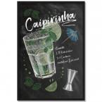 Poster Cocktail Caipirinha, mit Rahmen
